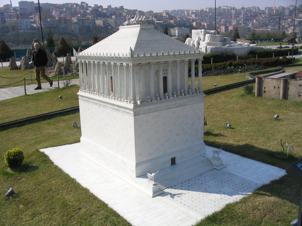 Replica model of Mausoleum of Mausolus in Miniatürk, Istanbul